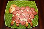 пасхальный барашек-5 (с сосисками и с сыром)
