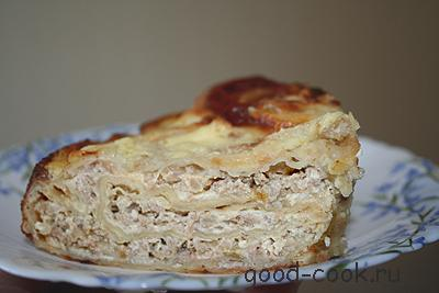 Пироги из лаваша с фаршем