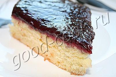 пирог со сливовой заливкой