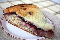 сливовый пирог с творожным верхом