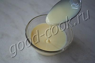 кофейный пирог со сгущенным молоком и безе