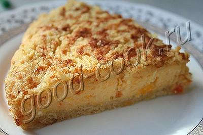 """рассыпчатый творожный пирог """"Лакомка"""""""