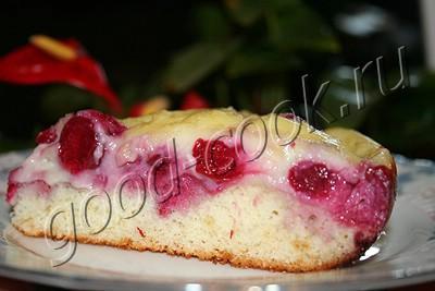 вишневый пирог с заварной помадкой