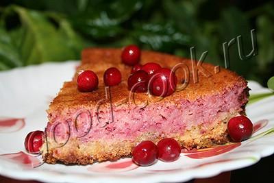 пирог с клюквенным верхом