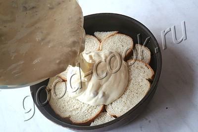 творожная запеканка с хлебным донышком