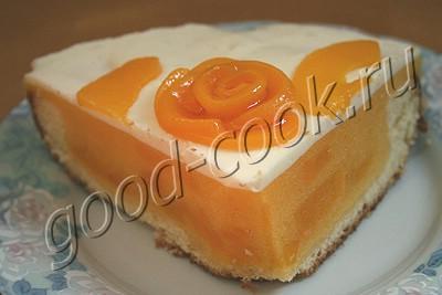 торт с персиковым желе