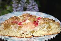 перевернутый пирог с ревенем