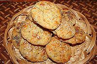 картофельные лепешки с соленым салом