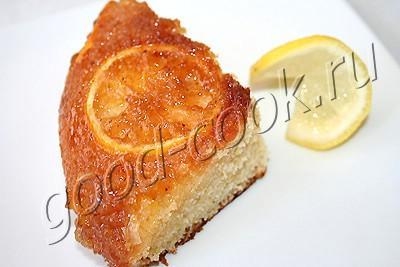 перевернутый лимонный пирог