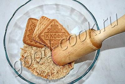 творожное пирожное с хрустящей основой