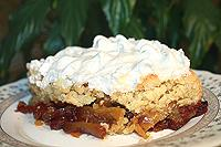 рассыпчатый яблочный пирог с безе