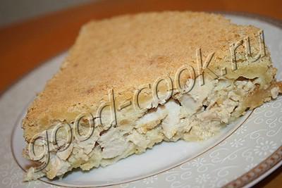 куриный пирог с рассыпчатым тестом