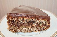 шоколадно-ореховый торт с мягким кремом