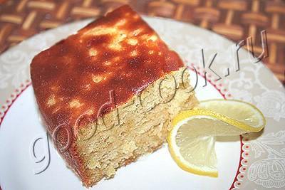 пирог лимонно-медовый