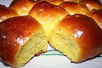 Солнечные булочки с куркумой и изюмом