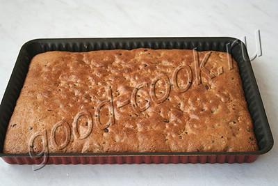 орехово-кофейный пирог с шоколадными каплями