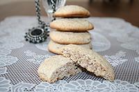 ореховое печенье на крахмале