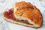 полузакрытый пирог с сушеными яблоками