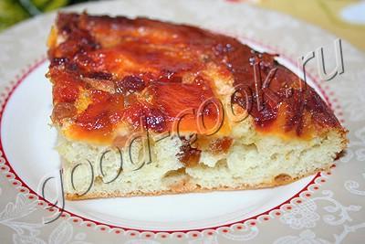перевернутый пирог с тыквой