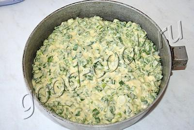 быстрый пирог сзеленым луком