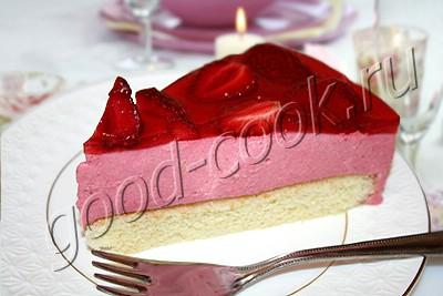 свадебный торт с клубничным суфле рецепт