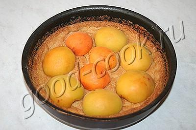 абрикосовый пирог с творожной заливкой