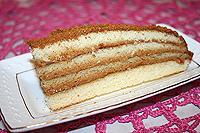 Медовый торт с вареным сгущенным молоком