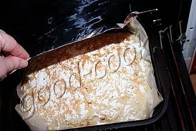 хлеб без замеса (с тушеной капустой)