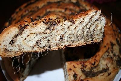 пирог-рулет с грибами