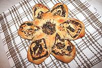 пирог-цветок с грибами