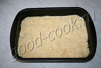 рассыпчатый пирог с курагой