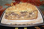 пирог из песочного теста с курицей и рисом