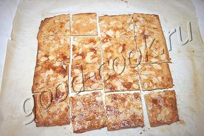 печенье с ореховой корочкой