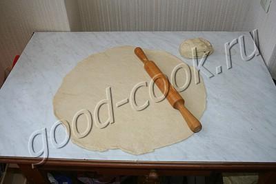 пирог с мясом, капустой и болгарским перцем