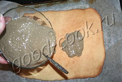 печенье с корочкой из халвы и орехов