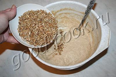 ржано-пшеничный хлеб с семечками (на сметане)