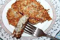 оладьи из риса с грибами