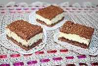 рассыпчатый шоколадный пирог с творогом