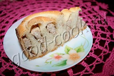 рулетный пирог с мясом