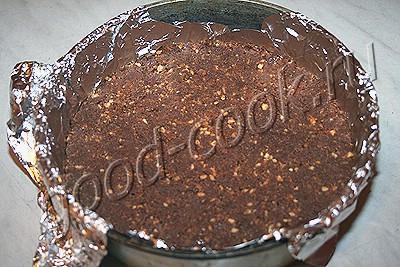 шоколадный чизкейк с клубникой (без выпечки)