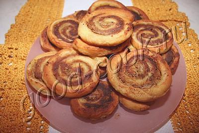пирожки-рулеты с печеночным паштетом