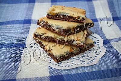 шоколадное печенье с творожной корочкой