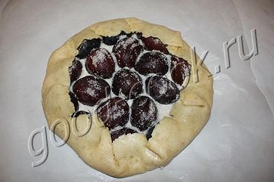 сливовый пирог на сметанном тесте