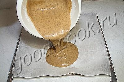 шоколадно-кофейный рулет с вишней