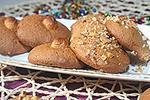 кофейное печенье с ореховой посыпкой