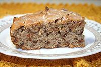 постный пирог с орехами и сушеными яблоками
