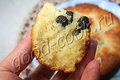творожный кексовый пирог с изюмом