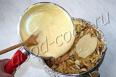 датский яблочный пирог с яичным кремом