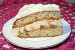 торт с персиками, джемом и сливками 44 уровень