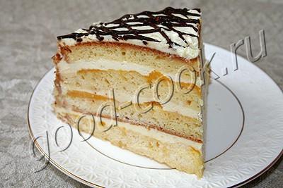 торт с апельсинами и сливками